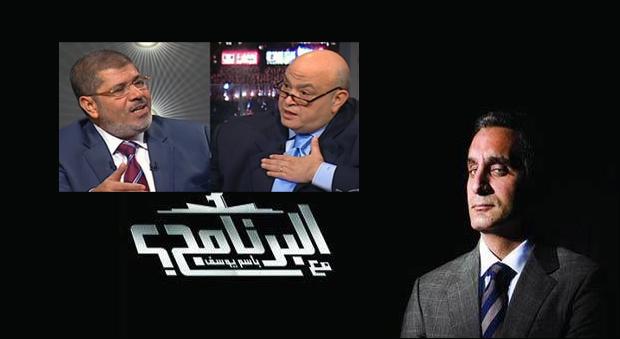 كيف ذبح باسم يوسف زميله أديب ورئيسه مرسي بسكين بارد؟