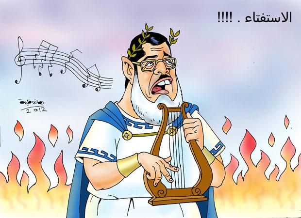 مرسي يغني نشيد الاستفتاء