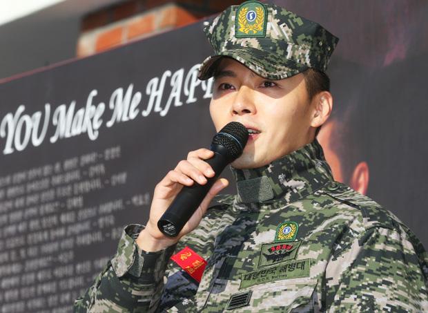 """إنتهاء خدمة """"Hyun Bin"""" العسكرية"""