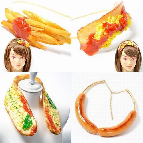 اليابان: إكسسوارات على شكل طعام للبيع