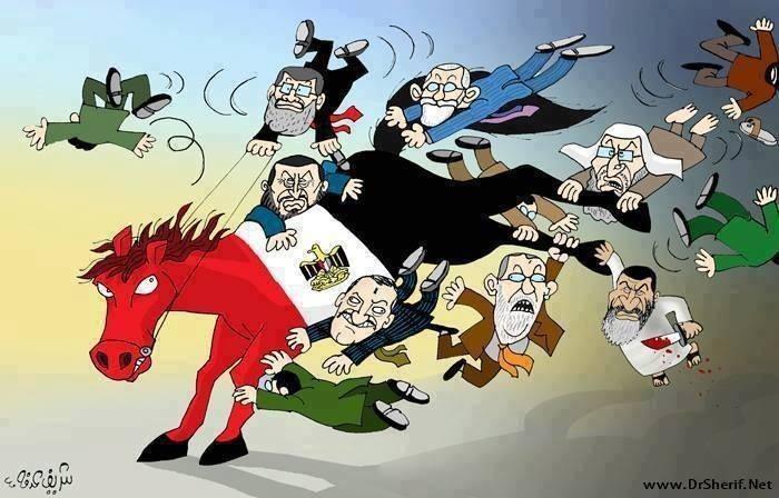الفنان شريف عرفة يلخص ٣ سنوات من تاريخ مصر كاريكاتوريا