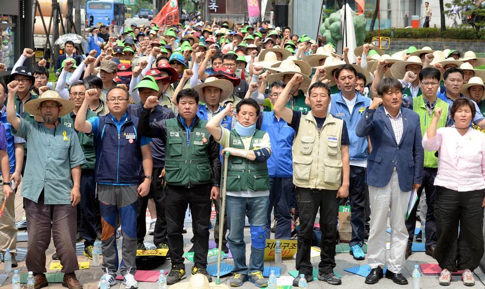 مسيرة فلاحية في كوريا للمناداة بحقول العمال والمزارعين